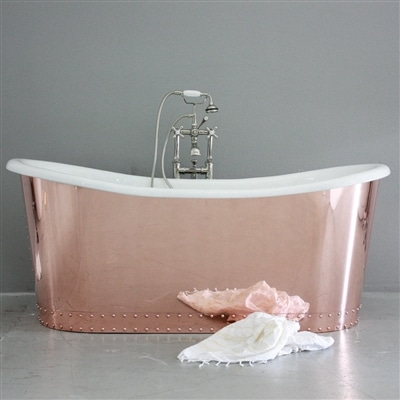 ESTILO DE VIDA: Relax – 'The Woburn' 73″ Cast Iron French Bateau Tub Package
