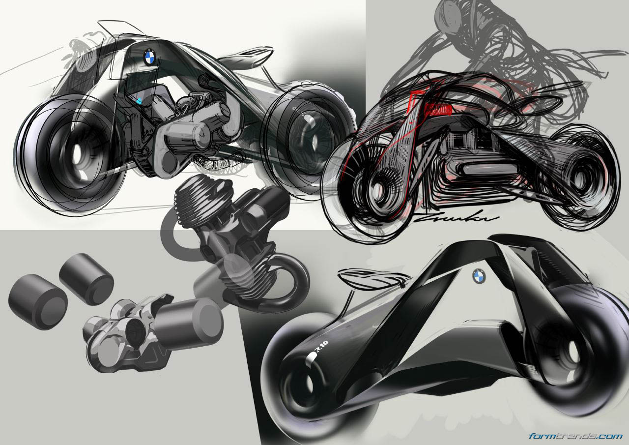 BMW Motorrad Vision Next 100 sketches by Evgeniy Zhukov