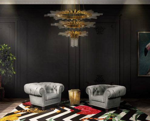 ARQUITECTURE: Mysterious and Sophisticated Dark Living Room Design