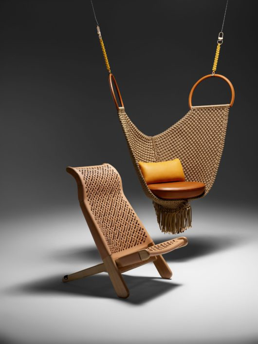 Silla Palaver y silla Swing de Patricia Urquiola.