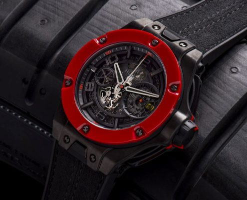 HUBLOT – Reloj Ferrari Unico Carbon Red Ceramic