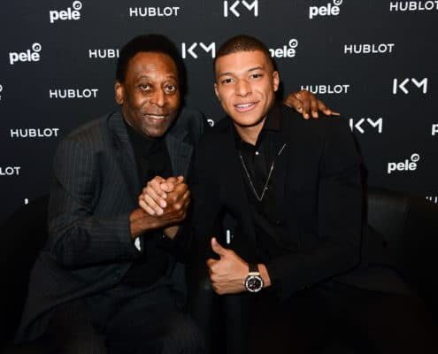 Pelé and Kylian Mbappé