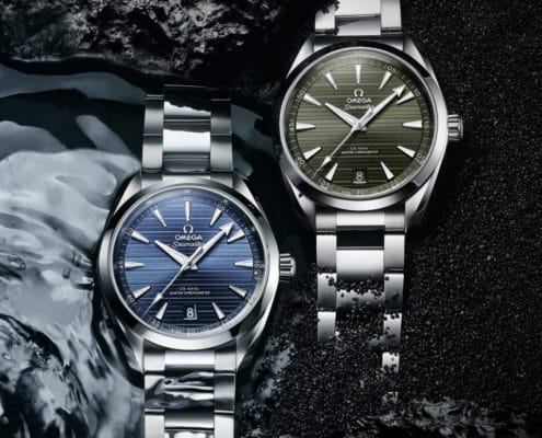OMEGA's classic collection – Two New Shades Of Aqua Terra