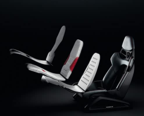 Porsche presents innovative 3D-printing technology for bucket seats