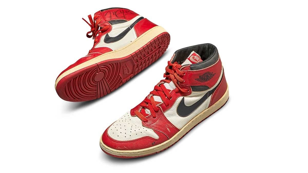Sotheby's – Michael Jordan's Game Worn 1985 Player Sample Air Jordan 1s | Sizes 13, 13.5