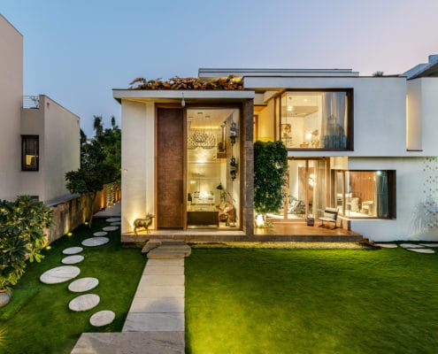 NA Architects Design A Private Residence Where Copper Hues Reign