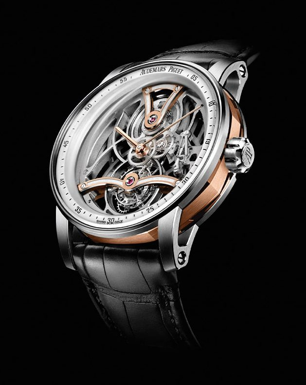 CODE 11.59 BY AUDEMARS PIGUET – Tourbillon Openworked only watch Unique piece
