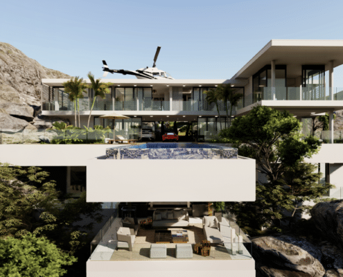 Unraveling A Luxury Living Room in A $15 Million Mansion In Capri