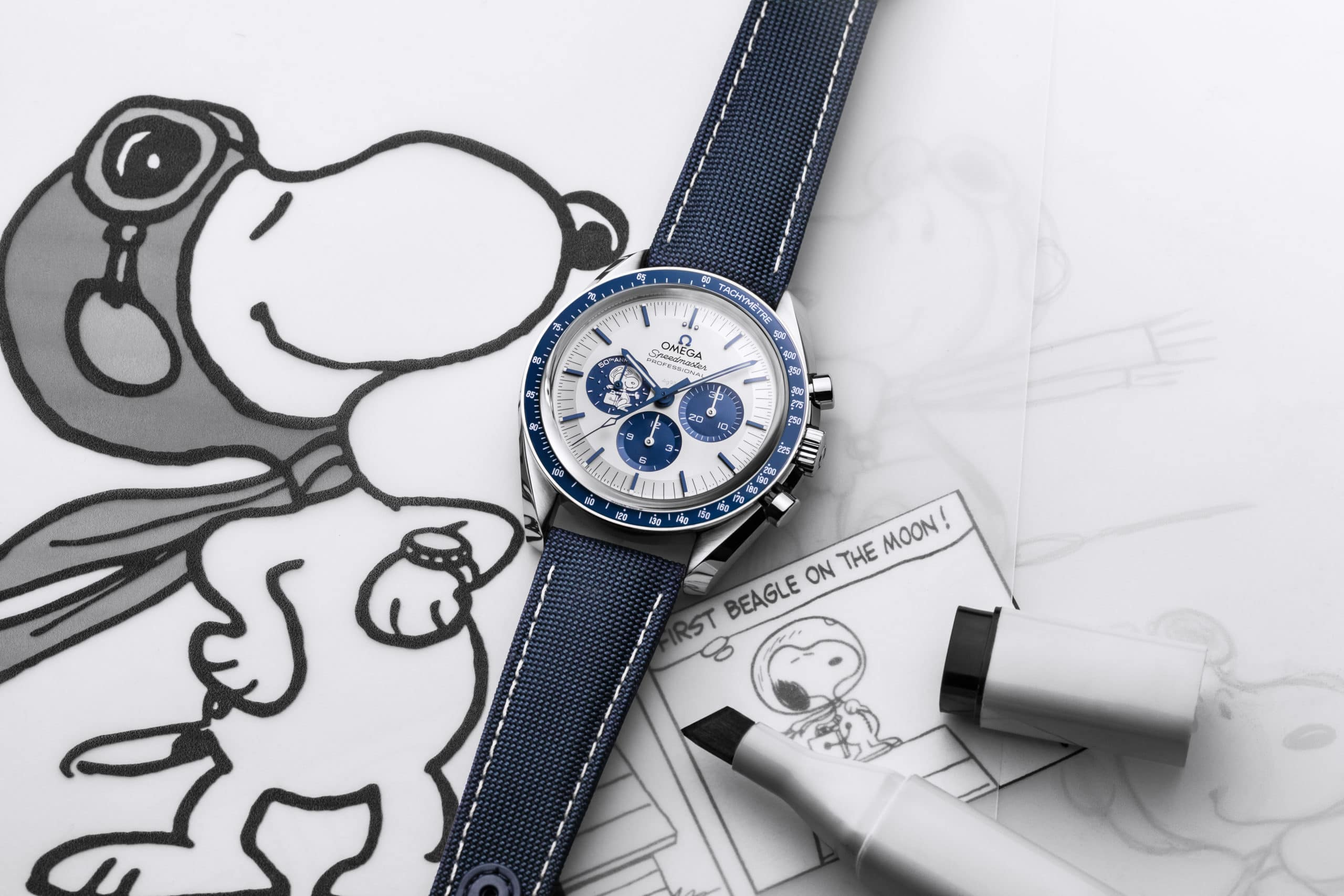 "OMEGA launches the Speedmaster ""Silver Snoopy Award"" 50th Anniversary"