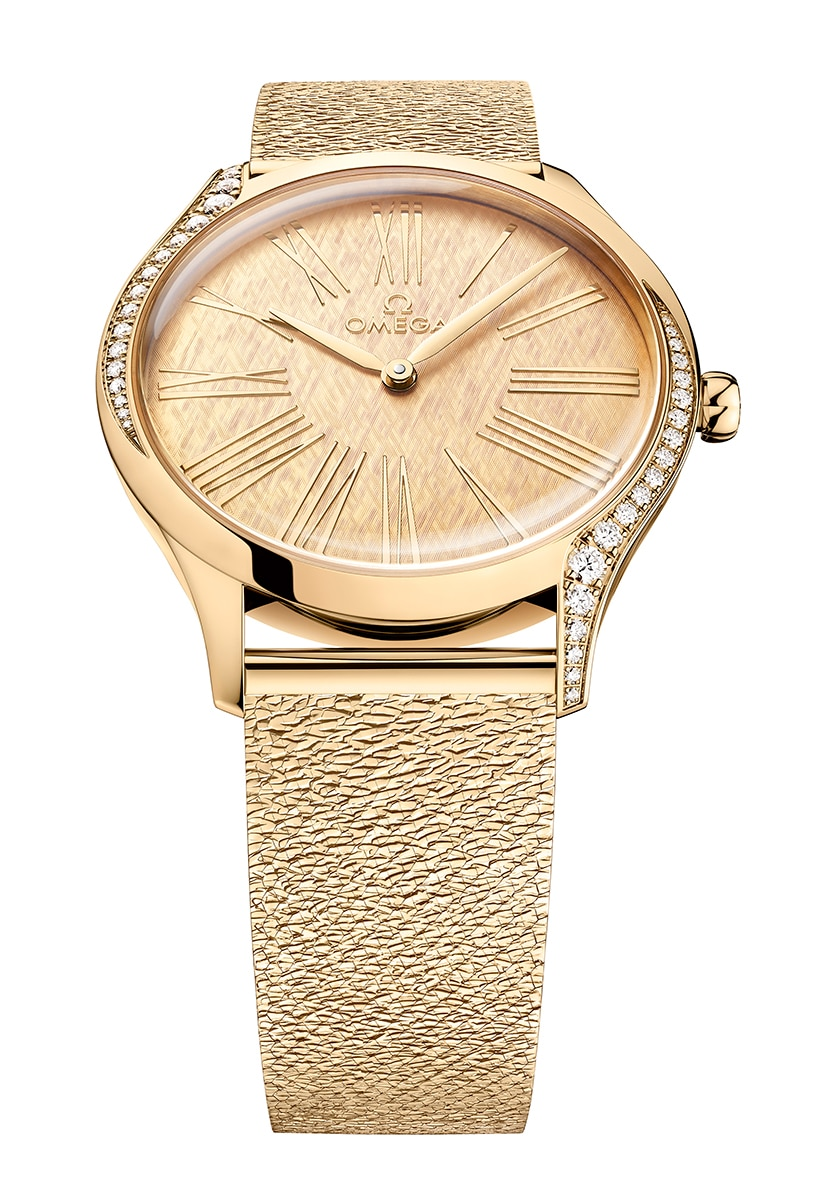 An OMEGA Trésor in Gold With a New Mesh Bracelet