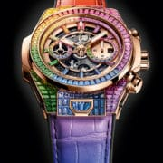 HUBLOT - Big Bang Unico full baguette king gold rainbow