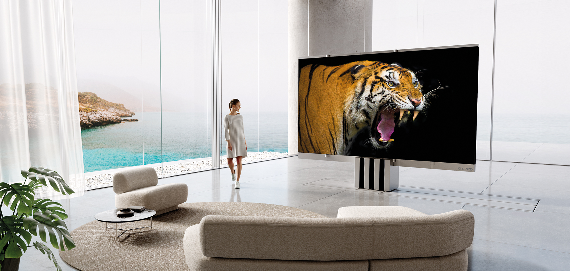 The World's First Foldable 165-inch MicroLED TV – C SEED introduces the M1 Redefining Luxury and Style