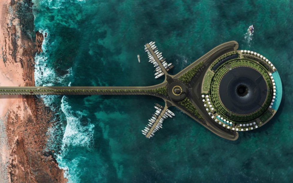 Eco-Floating Hotel, A Luxurious Revolving Hotel in Qatar by Hayri Atak Architectural Design Studio (HAADS)