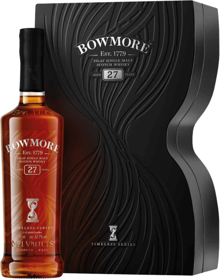 BOWMORE TIMELESS 27 & 31 Year old Scotch Whisky Limited editions.