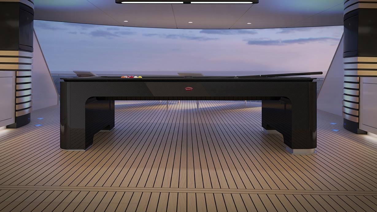 Bugatti reveals carbon fiber Pool Table engineered to Molsheim standards