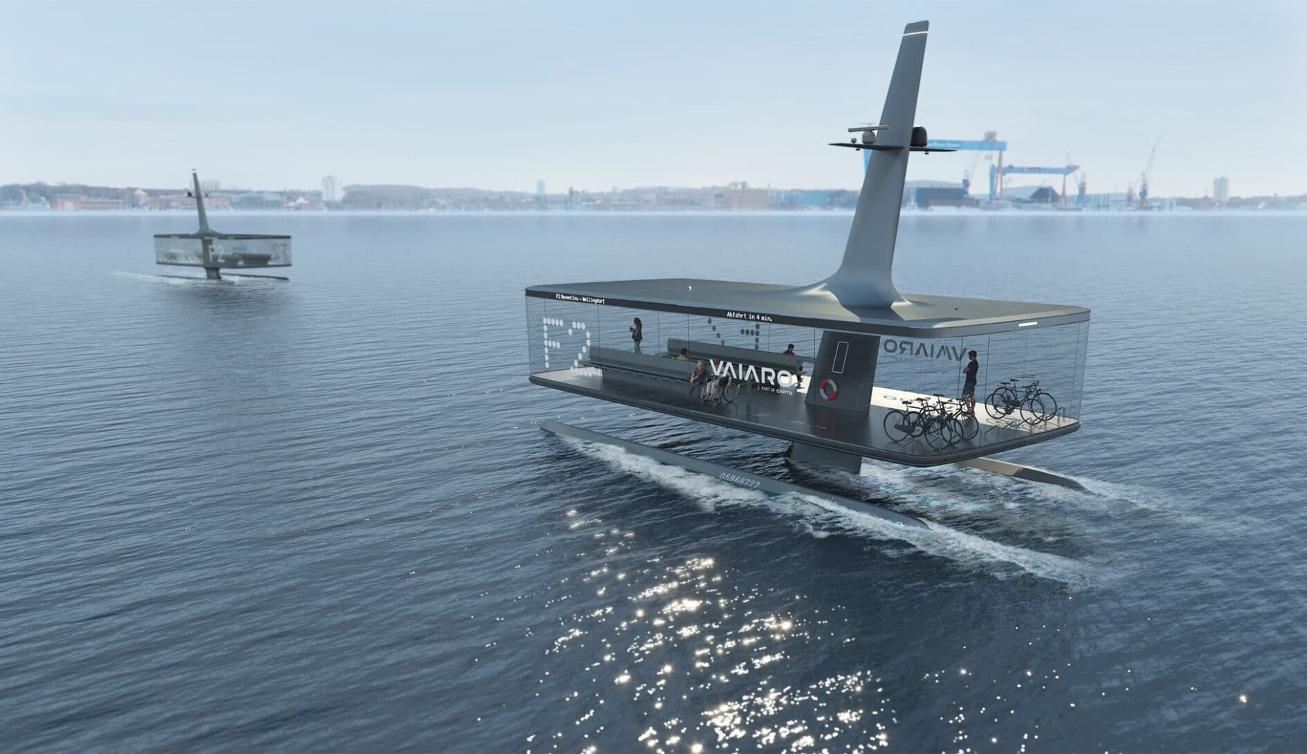 """The two different concepts of the VAIARO project with the names """"Floating Platform"""" and """"Passage"""""""
