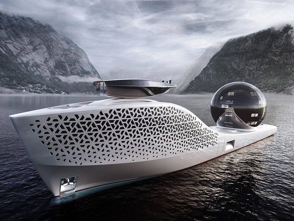 Earth 300 research superyacht, next-generation platform for state of the art science at sea