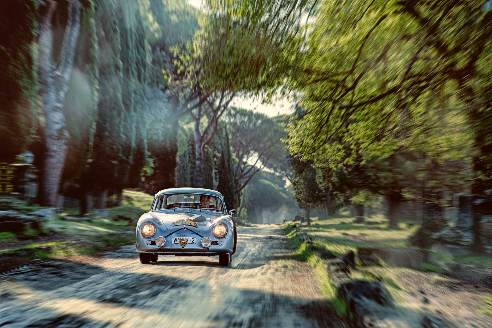 The Porsche 356 on the road to Rome