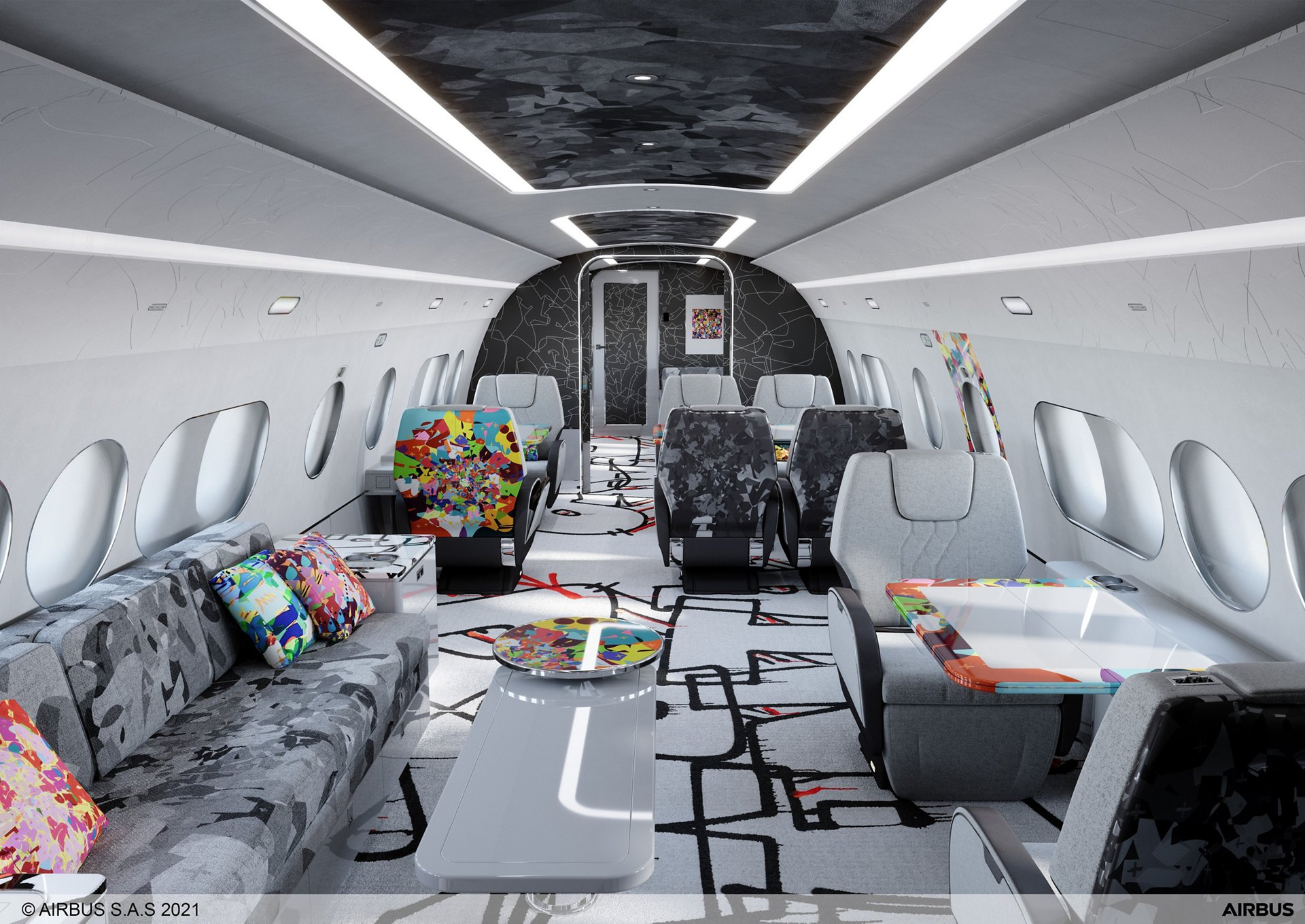ACJ and contemporary artist, Cyril Kongo, partner to offer a special ACJ TwoTwenty Airbus cabin edition